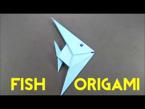 How To Make An Origami Fish - Easy Paper Fish Tutorial for Beginners - Step by Step Origami Fish