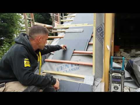 How to fix the eaves course of a 600 x 300 man made slate. Eternity slate eaves corse fixing