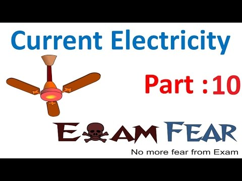 Physics Current Electricity part 10 (Current & Drift velocity) CBSE class 12