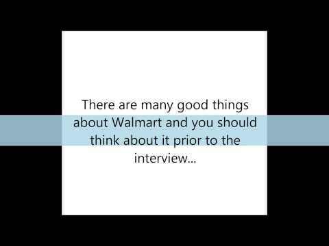 Walmart Interview Tips