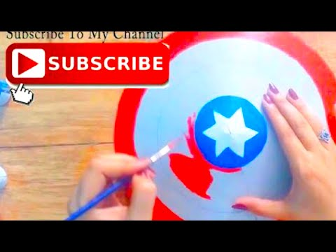 Avengers  CRAFT for kids | genius way to Make captain america shield | cool and creative #134
