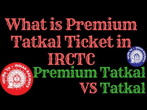 What is Premium Tatkal Ticket. How to Book It.