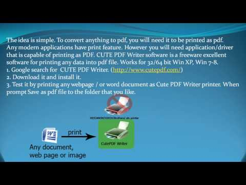 Free - Save As PDF : excel, word, office, photos, images, web pages, reports, any data - pt1of2