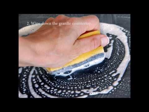 How to clean granite countertops.