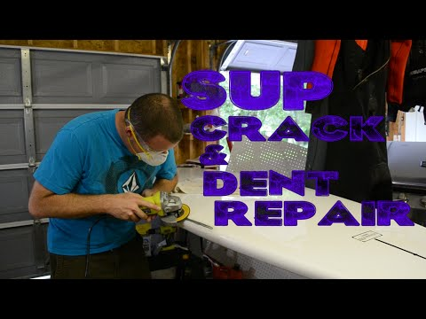 How to Repair Crack or Ding in SUP and Surfboard