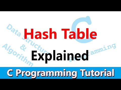 C Programming Tutorial #51 Hash Table Explained with Example