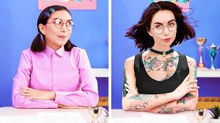 NERD VS POPULAR STUDENT || How To Become Popular At School | Back To School DIYs And Hacks