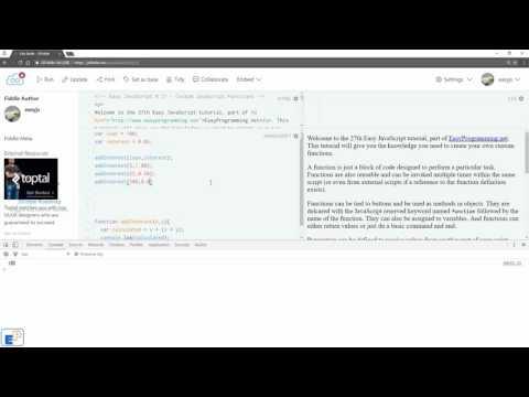 Easy JavaScript - Intro to Custom JavaScript Functions (27)