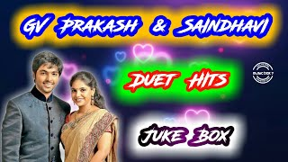GV Prakash \u0026 Saindhavi Duet Hits   Melody   Tamil Songs   Juke Box   Music Box 7