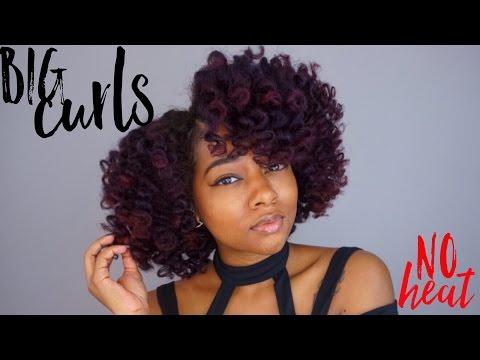 Big Curls, No Heat Natural Hair   The Mane Choice