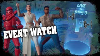 FORTNITE EVENT WATCH - STAR WARS EVENT COUNTDOWN LIVE - RISKY REELS FINAL ( STAGE 5 ) COMING TONIGHT