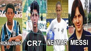Quando as Lendas eram Crianças ... Neymar, Cristiano Ronaldo, Ronaldinho e Messi