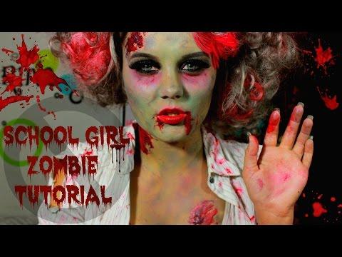 Easy and Fun School Girl Zombie Halloween Look Tutorial!