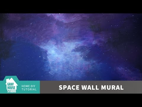 How to Paint a Space Wall Mural // DIY