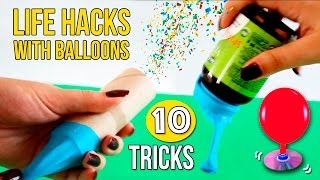 Download 10 LIFE HACKS WITH BALLOONS 🎈 * AWESOME tricks with BALLOONS Video