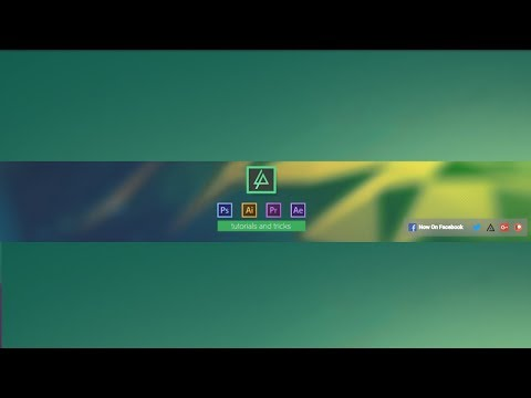 How to make professional youtube channel art in photoshop