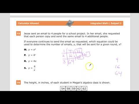Question 15 -  Integrated Math 1  - TNReady Practice Test