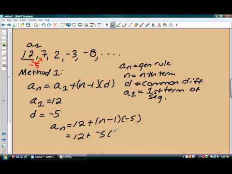 Writing the rule of an arithmetic sequence