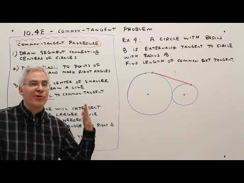 10.4E--  The Common Tangent Problem