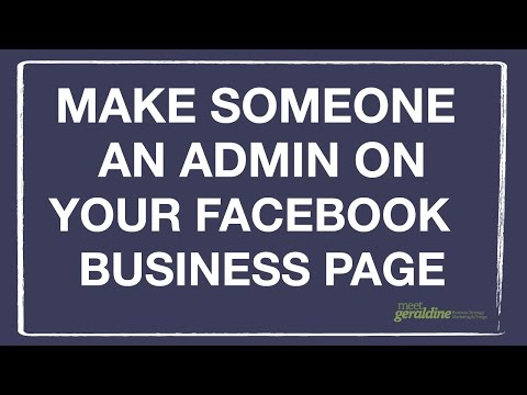 Make Someone an Admin on your Facebook Business Page | Tutorial