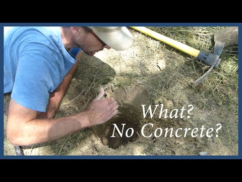How to Set a Secure Gate Post WITHOUT Concrete!