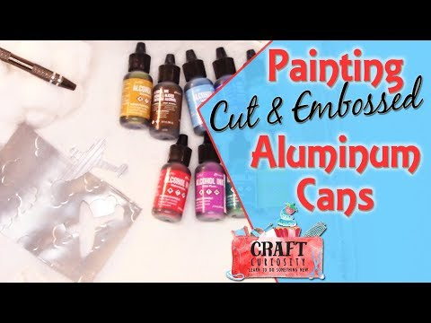 Painting Aluminum Cut and Embossed Cans