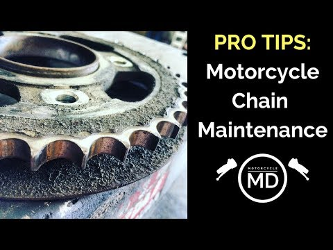 Motorcycle Chains : Professional maintenance tips