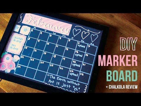 How To Make Your Own Marker Board + Chalkola Marker Review