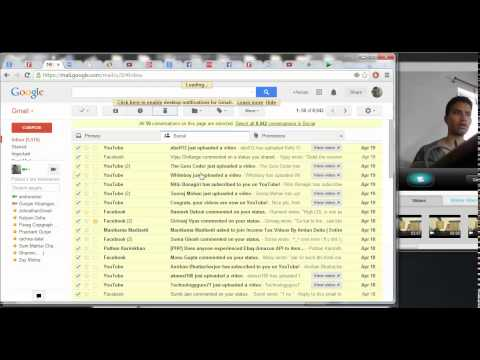 1 (Gmail) How to  empty the Trash Folder inside Gmail