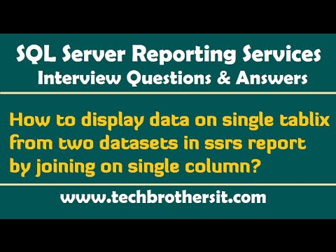 How to display data on single tablix from two datasets in ssrs report by joining on single column
