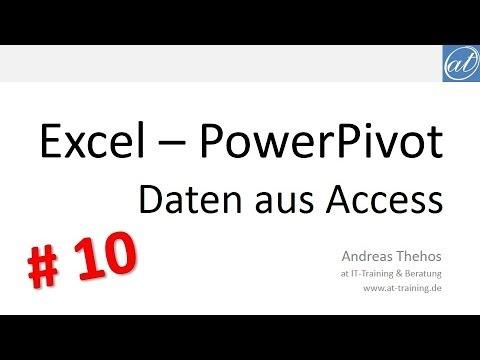 Excel - PowerPivot # 10 - Daten aus Access auswerten
