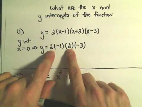 X-Intercepts and Y-Intercepts of a Functions and Finding Them! Example 1
