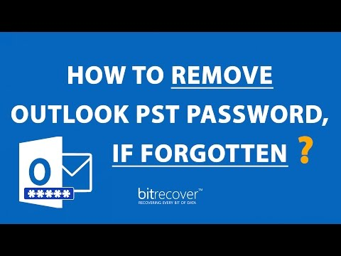 How to Remove Outlook PST Password, If Forgotten