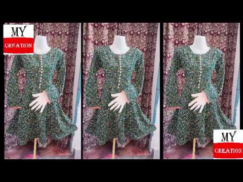 panel frock cutting / anarkali suit cutting / stylish anarkali dress cutting