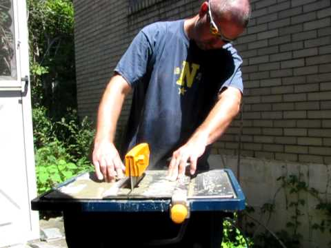 Cutting Slate Tile with a Wet Saw
