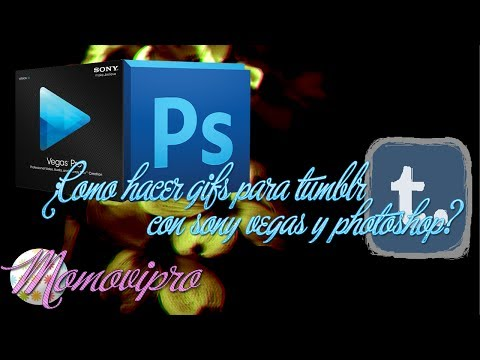¿Como hacer gifs para Tumbr usando Photoshop y Sony vegas? 2014.