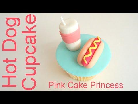 Hot Dog Cupcake how to by Pink Cake Princess
