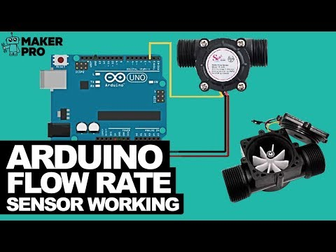 Arduino Flow Rate Sensor Working