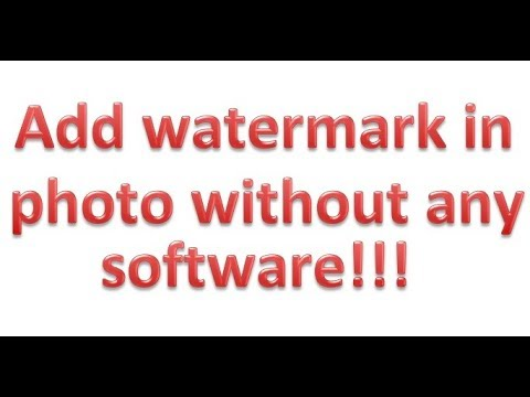 How to add watermark in photo/image without any software ?