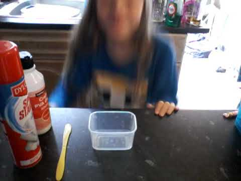 How to make slime with Spray Starch
