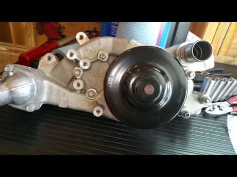 Installing Water Pump & AC Belt on LS Motor. Boosted C6 Build. Part 35.