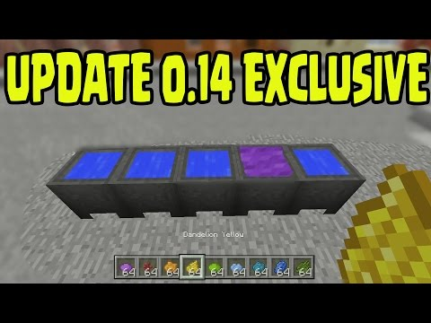 Minecraft Pocket Edition 0.14 UPDATE - EXCLUSIVE Cauldrons Armor Dying System (MCPE)