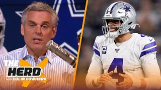 2 reasons Dak doesn't deserve $35M/year, Colin likes potential onside kick change | NFL | THE HERD