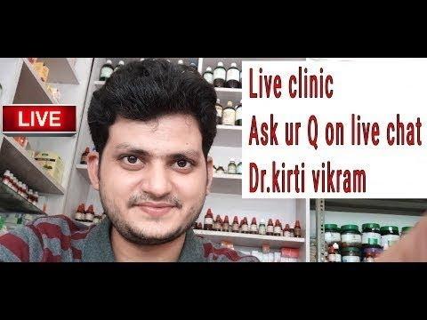 Dr kirti vikram singh LIVE CLINIC ASK UR PROBLEM# 389 30/5/2018