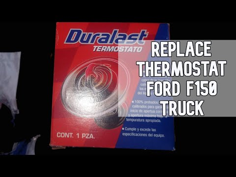 Replacing the thermostat in a Ford F150 Truck DIY video #diy #thermostat