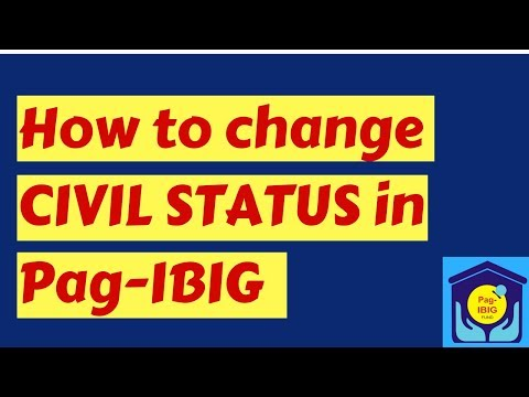 How to Change Civil Status in Pag IBIG
