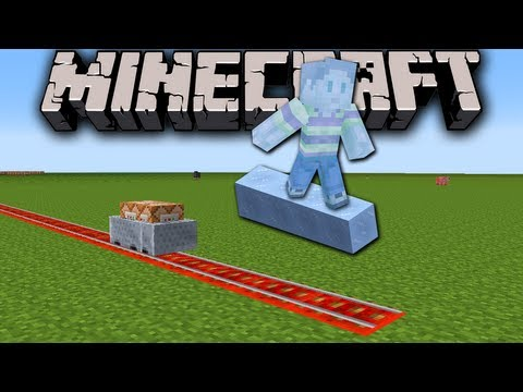 Minecraft 1.7 Snapshot: Auto-Building Railroad, X-Men Sky Surfing, Command Block Minecart Magic