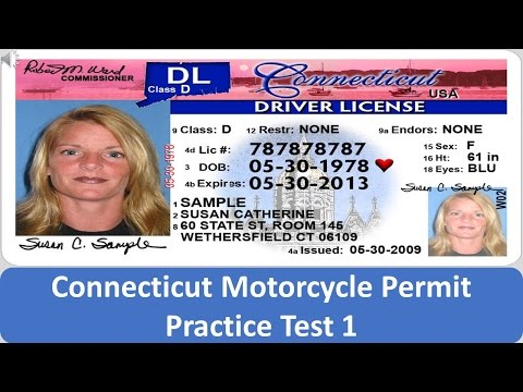 Connecticut Motorcycle Permit Practice Test 1