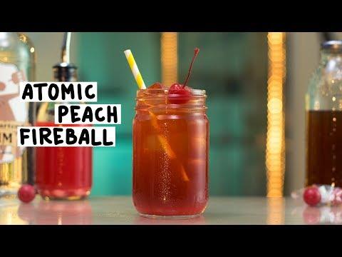 The Atomic Peach Fireball - Tipsy Bartender