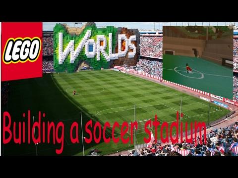 HOW TO BUILD A FOOTBALL STADIUM I Lego Worlds #5